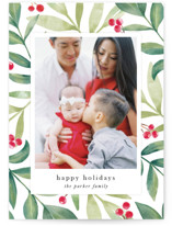 Holiday Greenery Christmas Photo Cards By Jana Volfova