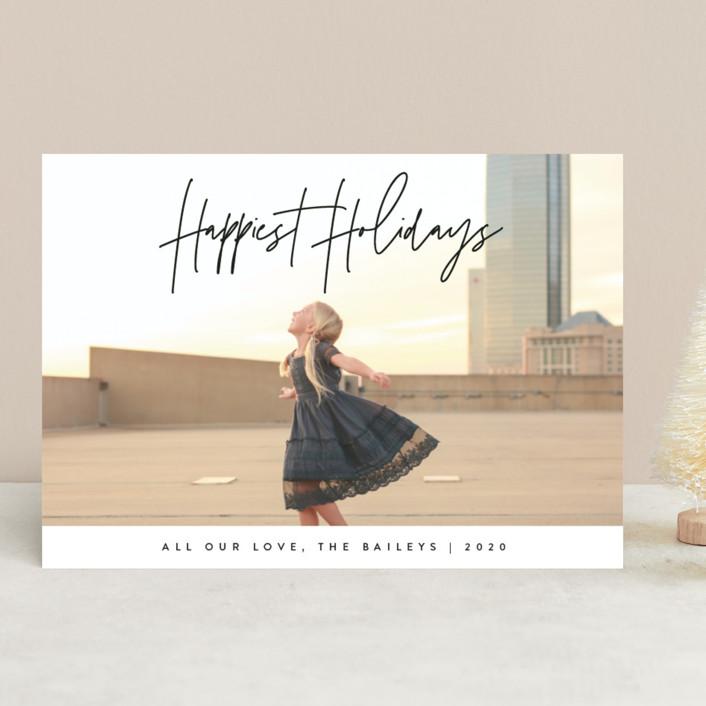 """headline"" - Christmas Photo Cards in Coal by JoAnn Jinks."