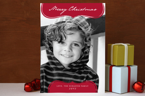 Modern Whimsy Christmas Photo Cards
