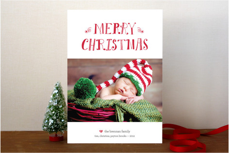 Peace, Happiness & Love Christmas Photo Cards