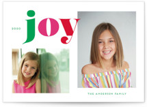 This is a green photo christmas card by Little Print Design called Christmas Time Joy with standard printing on smooth signature in standard.