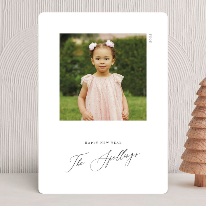 """""""Simple Square"""" - Christmas Photo Cards in Onyx by Genna Blackburn."""