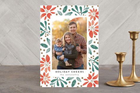 Holiday Stencil Christmas Photo Cards