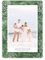 This is a green photo christmas card by raven erebus called Holiday Lattice with standard printing on smooth signature in standard.