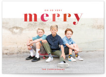 This is a red photo christmas card by Shari Margolin called Color Me Merry with standard printing on smooth signature in standard.