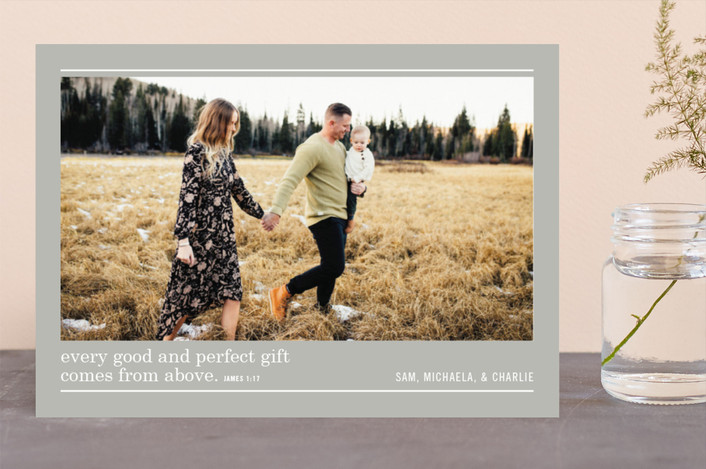 """Perfect Gift"" - Christmas Photo Cards in Dove Gray by Lindsay Stetson Thompson."