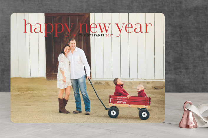 """Timeless Greeting"" - Elegant, Full-Bleed Photo Christmas Photo Cards in Holly Berry by Alston Wise."