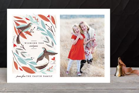 Winter Birds Christmas Photo Cards