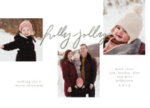 Holly Jolly Handwritten Christmas Photo Cards By Krissy Bengtson
