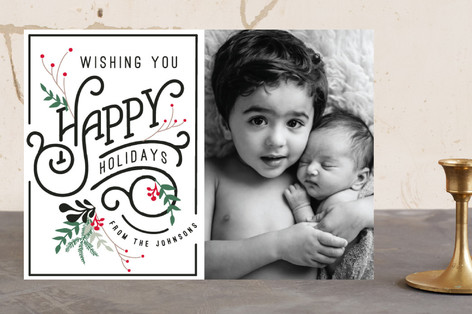 Fancy Holidays Christmas Photo Cards
