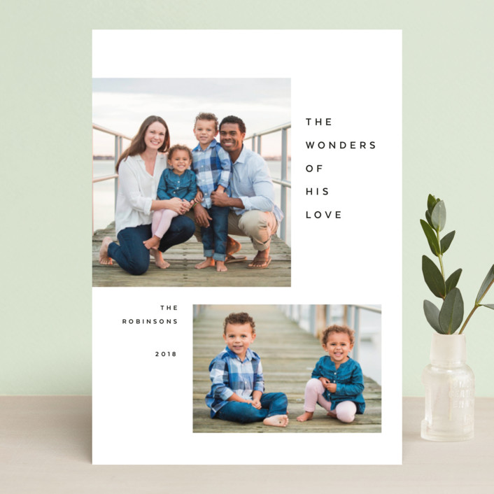 """""""Breathe"""" - Christmas Photo Cards in Jet by The Carillos."""