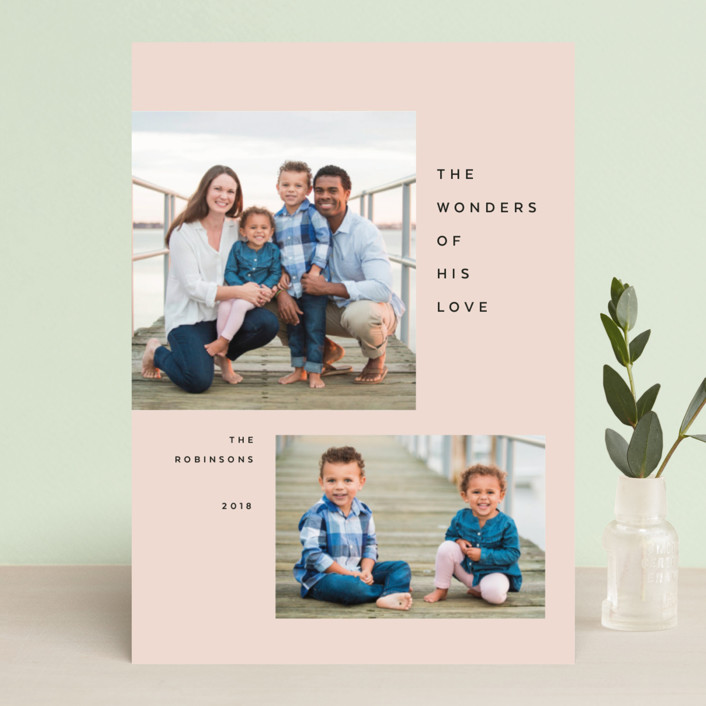 """Breathe"" - Christmas Photo Cards in Jet by The Carillos."