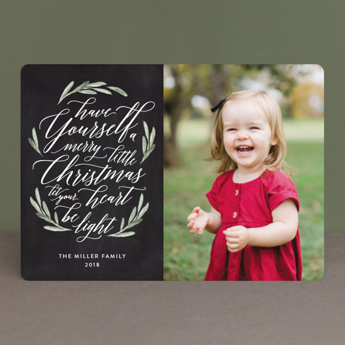 """""""Scripted Christmas"""" - Christmas Photo Cards in Antique by Jennifer Postorino."""