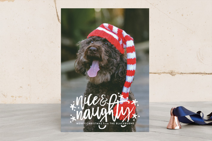 """""""Both Lists"""" - Christmas Photo Cards in Snow by Sarah Guse Brown."""