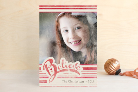 Just Believe Christmas Photo Cards