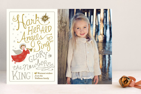 Angels Sing Christmas Photo Cards