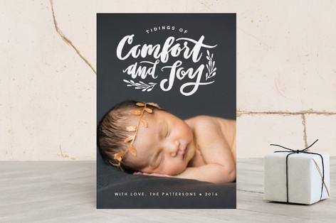Comfort and Joy Christmas Photo Cards