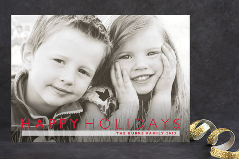 Modern Gallery Christmas Photo Cards
