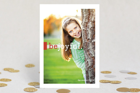 Be Joyful Christmas Photo Cards