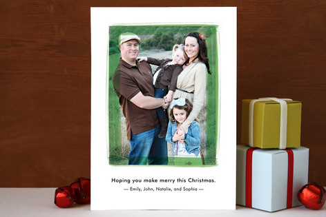 Painted Frame Christmas Photo Cards