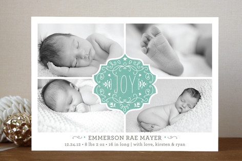 Festive Baby Christmas Photo Cards