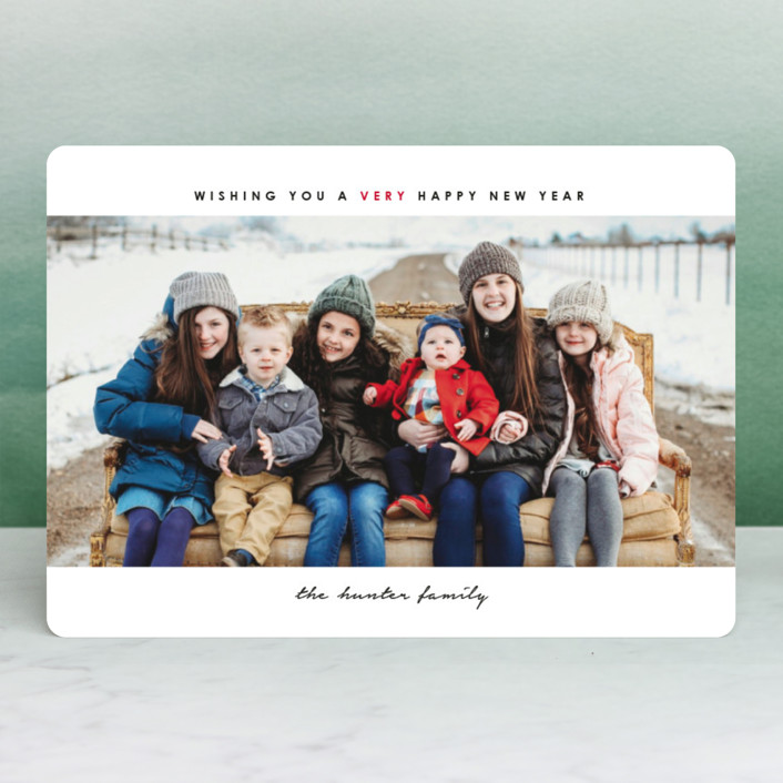 """simple christmas"" - Editor's Picks Christmas Photo Cards in Cherry by Laura Hamm."