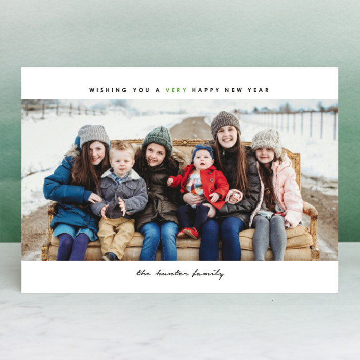 """simple christmas"" - Christmas Photo Cards in Cherry by Laura Hamm."