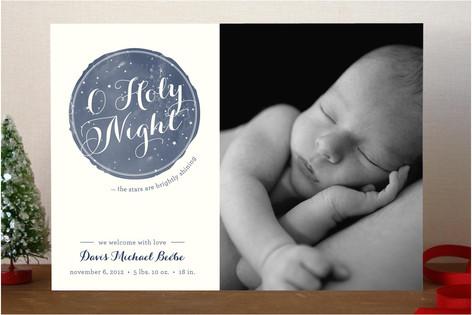 Holy Night Christmas Photo Cards