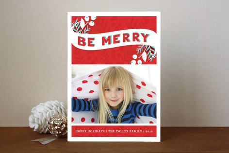 Be Merry Berries Christmas Photo Cards