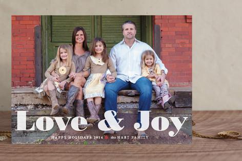 Love & Joy Christmas Photo Cards