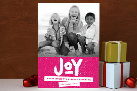 Standout Joy Christmas Photo Cards
