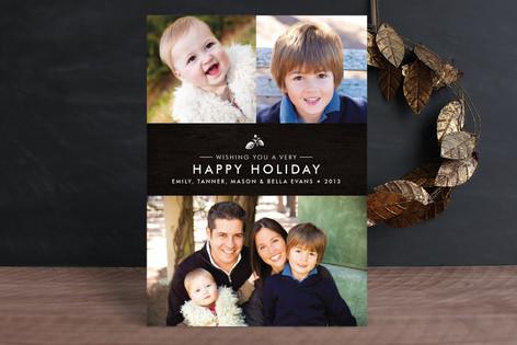 Splendid Pinecone Christmas Photo Cards