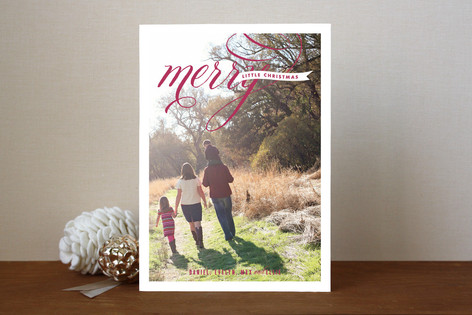 Merry Script Christmas Photo Cards