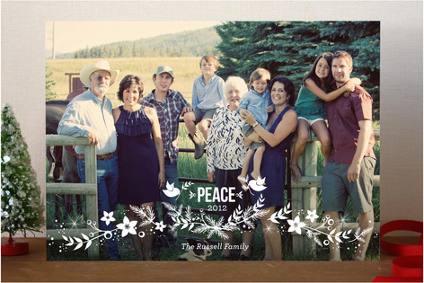 Holiday Laurel Christmas Photo Cards
