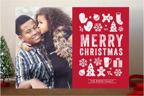 Christmas Dingbats Christmas Photo Cards