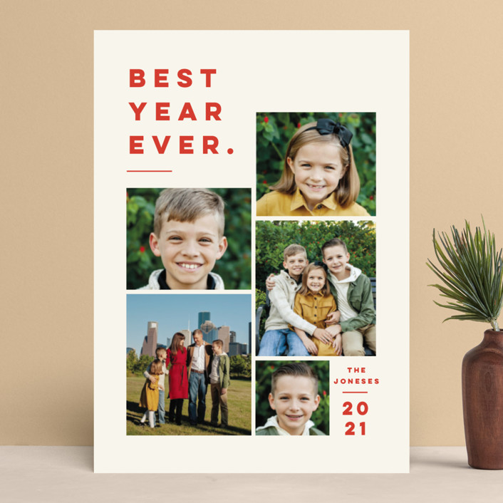 """Merry All Year."" - Christmas Photo Cards in Ivory by Pink House Press."