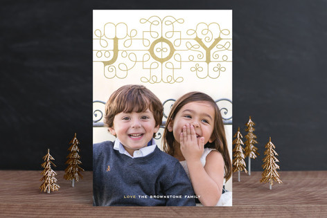 Ornamental Joy Christmas Photo Cards
