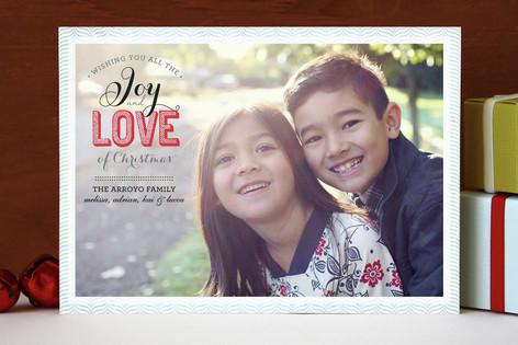 Joy & Love Christmas Photo Cards