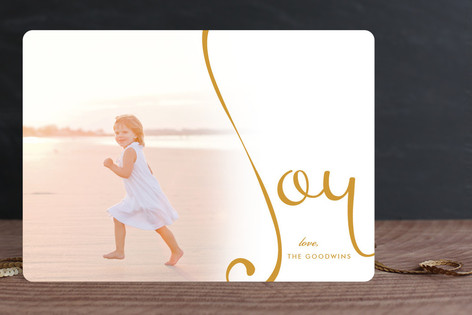 Overflowing Joy Christmas Photo Cards