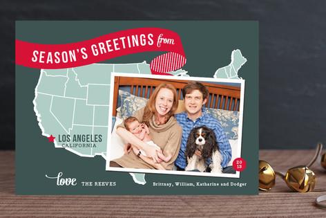 Holiday Map - West Coast Christmas Photo Cards