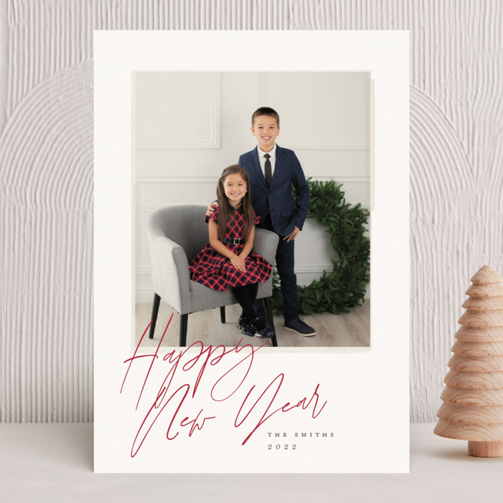 """vintage shot"" - Christmas Photo Cards in Blush by Carolyn Nicks."
