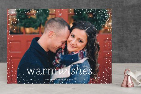 Snow Flurry Christmas Photo Cards