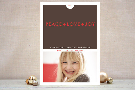 Simple+ Christmas Photo Cards