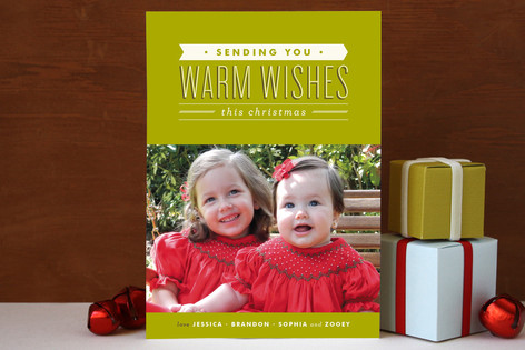 Sending Wishes Christmas Photo Cards