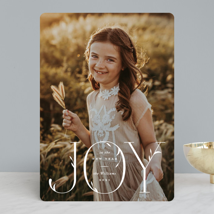 """""""Flourishes"""" - Christmas Photo Cards in Snow by Robert and Stella."""