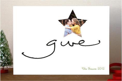 Give Kisses Christmas Photo Cards