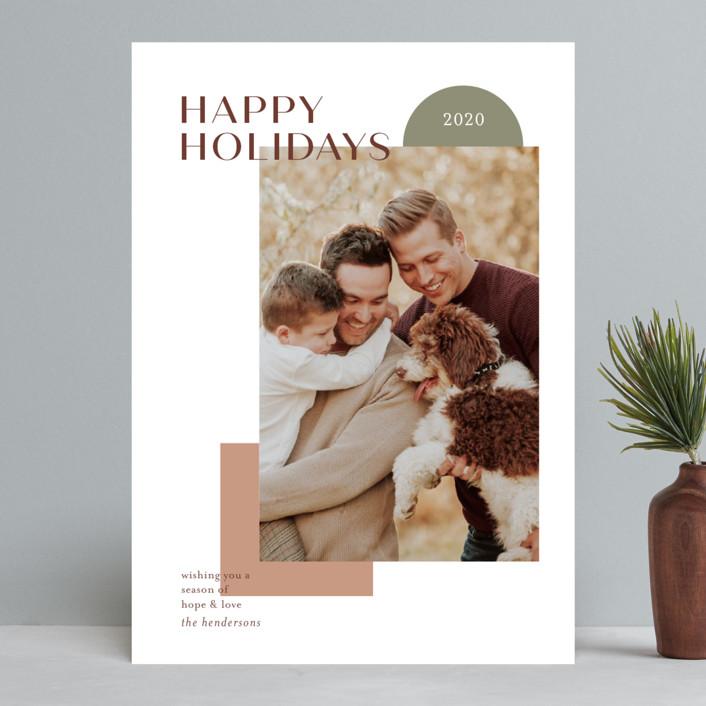 """winter sunrise"" - Modern Christmas Photo Cards in Almond by Aspacia Kusulas."