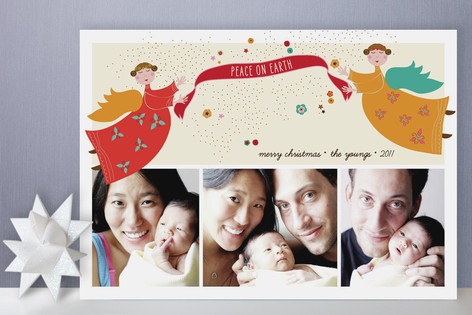 Anges de Noel Christmas Photo Cards