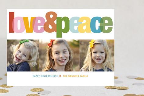 Love & Peace Christmas Photo Cards