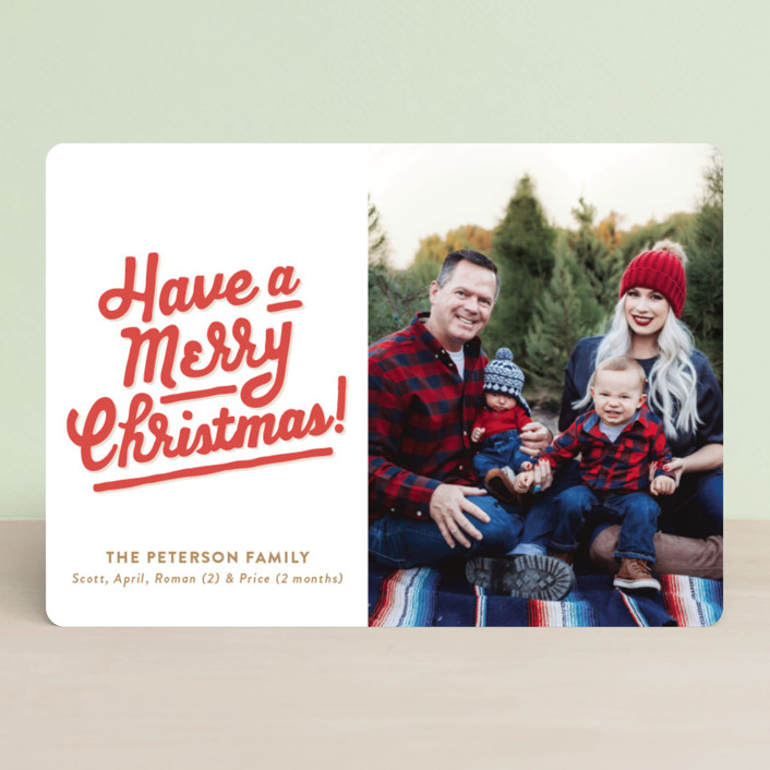 """My Type of Christmas"" - Vintage Christmas Photo Cards in Holly by The Social Type."